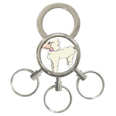 Poodle Dog Breed Cute Adorable 3-ring Key Chains