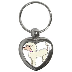 Poodle Dog Breed Cute Adorable Key Chains (heart)