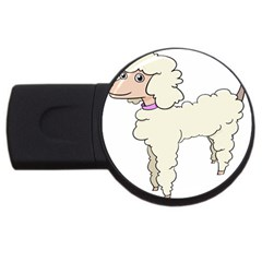 Poodle Dog Breed Cute Adorable Usb Flash Drive Round (4 Gb) by Nexatart
