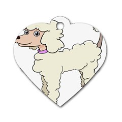 Poodle Dog Breed Cute Adorable Dog Tag Heart (one Side)