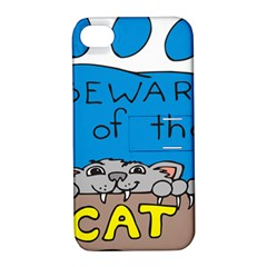Cat Print Paw Pet Animal Claws Apple Iphone 4/4s Hardshell Case With Stand by Nexatart