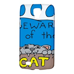 Cat Print Paw Pet Animal Claws Galaxy S4 Active by Nexatart