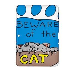 Cat Print Paw Pet Animal Claws Samsung Galaxy Tab 2 (10 1 ) P5100 Hardshell Case