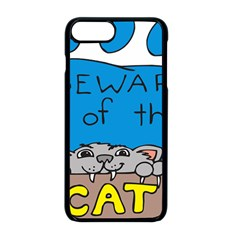 Cat Print Paw Pet Animal Claws Apple Iphone 8 Plus Seamless Case (black)