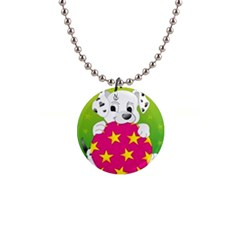 Dalmatians Dog Puppy Animal Pet Button Necklaces