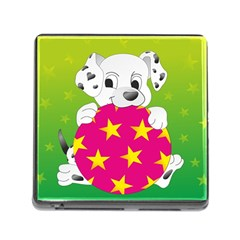 Dalmatians Dog Puppy Animal Pet Memory Card Reader (square) by Nexatart