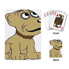 Dog Cute Sitting Puppy Pet Playing Card by Nexatart
