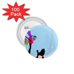 Woman Girl Lady Female Young 1 75  Buttons (100 Pack)  by Nexatart