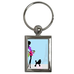 Woman Girl Lady Female Young Key Chains (rectangle)  by Nexatart