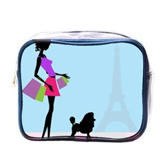 Woman Girl Lady Female Young Mini Toiletries Bags by Nexatart