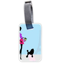 Woman Girl Lady Female Young Luggage Tags (one Side)  by Nexatart