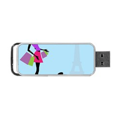 Woman Girl Lady Female Young Portable Usb Flash (two Sides) by Nexatart