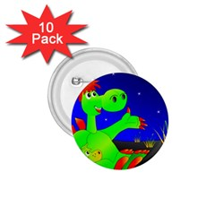 Dragon Grisu Mythical Creatures 1 75  Buttons (10 Pack)
