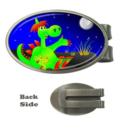 Dragon Grisu Mythical Creatures Money Clips (oval)  by Nexatart