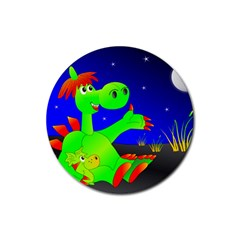Dragon Grisu Mythical Creatures Rubber Round Coaster (4 Pack)