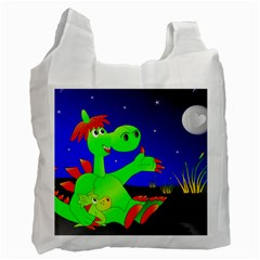 Dragon Grisu Mythical Creatures Recycle Bag (one Side) by Nexatart