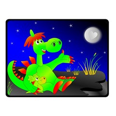 Dragon Grisu Mythical Creatures Double Sided Fleece Blanket (small)  by Nexatart