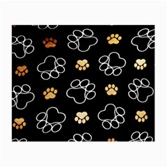 Dog Pawprint Tracks Background Pet Small Glasses Cloth