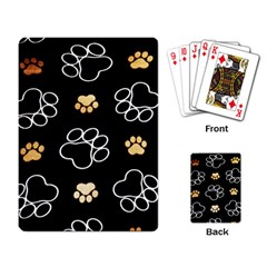 Dog Pawprint Tracks Background Pet Playing Card