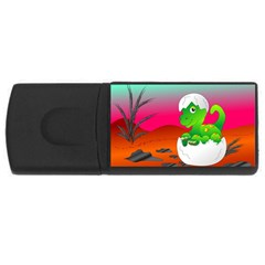 Dinosaur Dino Baby Dino Lizard Rectangular Usb Flash Drive