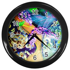 Blue Lilac On A Countertop 3 Wall Clocks (black) by bestdesignintheworld