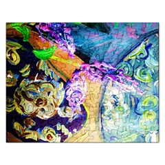 Blue Lilac On A Countertop 3 Rectangular Jigsaw Puzzl by bestdesignintheworld