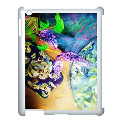 Blue Lilac On A Countertop 3 Apple Ipad 3/4 Case (white) by bestdesignintheworld