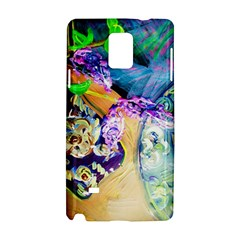 Blue Lilac On A Countertop 3 Samsung Galaxy Note 4 Hardshell Case by bestdesignintheworld