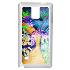 Blue Lilac On A Countertop 3 Samsung Galaxy Note 4 Case (white)