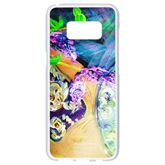 Blue Lilac On A Countertop 3 Samsung Galaxy S8 White Seamless Case