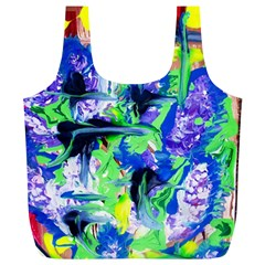 Lilac 3 Full Print Recycle Bags (l)  by bestdesignintheworld