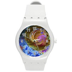 June Gloom 2 Round Plastic Sport Watch (m) by bestdesignintheworld