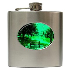 Hot Day In Dallas 24 Hip Flask (6 Oz) by bestdesignintheworld