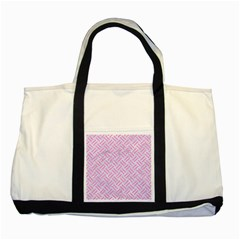 Woven2 White Marble & Pink Colored Pencil (r) Two Tone Tote Bag by trendistuff