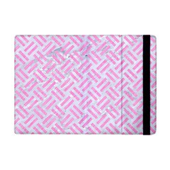 Woven2 White Marble & Pink Colored Pencil (r) Ipad Mini 2 Flip Cases by trendistuff