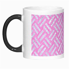 Woven2 White Marble & Pink Colored Pencil Morph Mugs by trendistuff