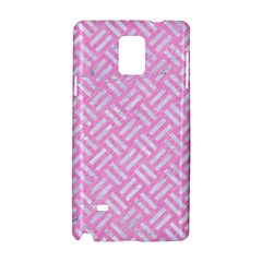 Woven2 White Marble & Pink Colored Pencil Samsung Galaxy Note 4 Hardshell Case by trendistuff