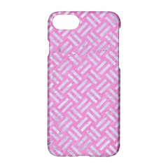 Woven2 White Marble & Pink Colored Pencil Apple Iphone 7 Hardshell Case by trendistuff