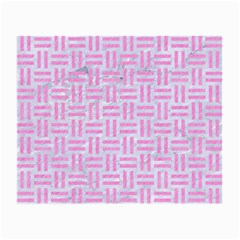 Woven1 White Marble & Pink Colored Pencil (r) Small Glasses Cloth (2 Side) by trendistuff