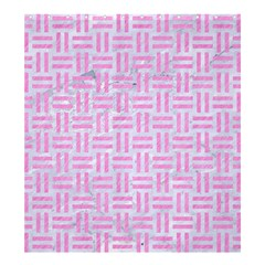 Woven1 White Marble & Pink Colored Pencil (r) Shower Curtain 66  X 72  (large)  by trendistuff