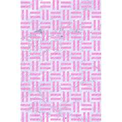Woven1 White Marble & Pink Colored Pencil (r) 5 5  X 8 5  Notebooks by trendistuff