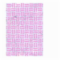 Woven1 White Marble & Pink Colored Pencil (r) Large Garden Flag (two Sides) by trendistuff