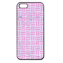 Woven1 White Marble & Pink Colored Pencil (r) Apple Iphone 5 Seamless Case (black) by trendistuff