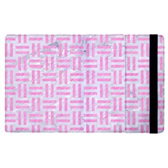 Woven1 White Marble & Pink Colored Pencil (r) Apple Ipad Pro 9 7   Flip Case by trendistuff