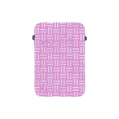 Woven1 White Marble & Pink Colored Pencil Apple Ipad Mini Protective Soft Cases by trendistuff