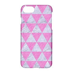 Triangle3 White Marble & Pink Colored Pencil Apple Iphone 7 Hardshell Case by trendistuff