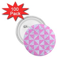 Triangle1 White Marble & Pink Colored Pencil 1 75  Buttons (100 Pack)  by trendistuff