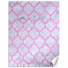 Tile1 White Marble & Pink Colored Pencil (r) Canvas 12  X 16   by trendistuff