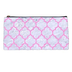 Tile1 White Marble & Pink Colored Pencil (r) Pencil Cases by trendistuff