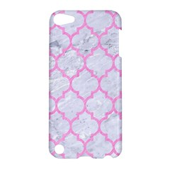 Tile1 White Marble & Pink Colored Pencil (r) Apple Ipod Touch 5 Hardshell Case by trendistuff